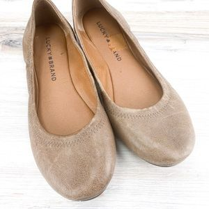 Lucky Brand Emmie Flats Light Brown - 6.5M